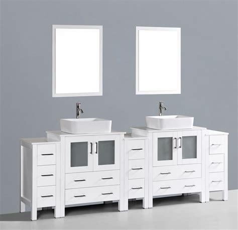 contemporary 96 inch double rectangle vessel sink bathroom