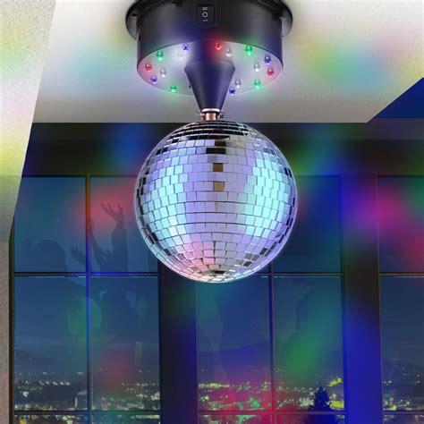 disco beleuchtung set led spiegel kugel 13 cm discokugel beleuchtung