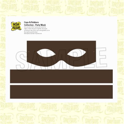 printable robber mask template items similar to police party robber mask from the cops