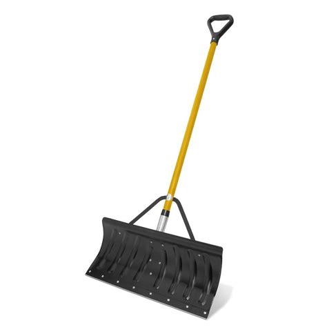 snow pusher shovel home depot
