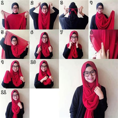 tutorial berhijab simple untuk remaja how to wear the hijab dopatta draping step by step