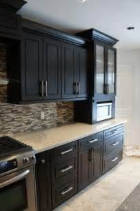 espresso cabinet kitchen cabinets and the on