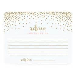 Bridal Shower Advice Cards Template by Confetti Shower Bridal Shower Advice Cards Zazzle