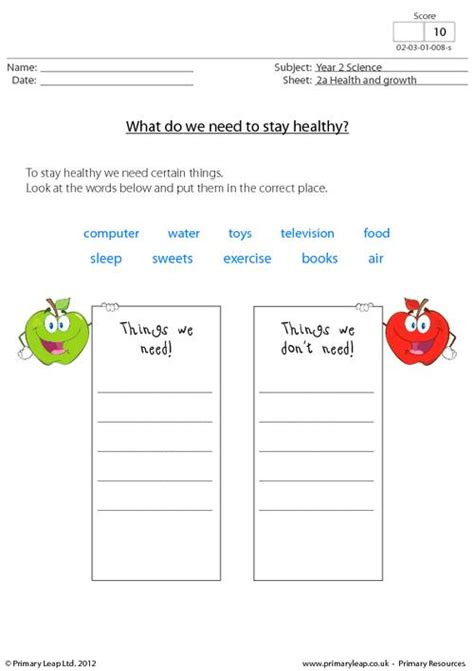 17 best images of healthy lifestyles worksheets for healthy living 1 primaryleap co uk 17 b