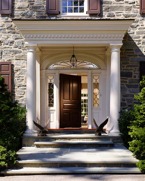 colonial front door designs bryn mawr stone colonial traditional entry