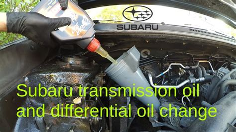 subaru forester transmission fluid change subaru impreza manual transmission and front differential