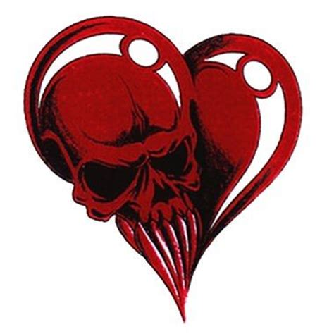 skull heart tattoo skull tattoos and skulls on
