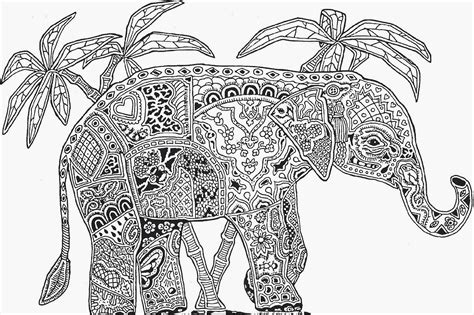free coloring pages of mandala elephants