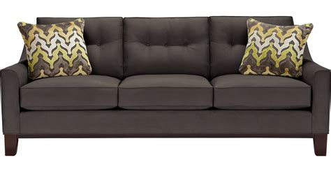 cindy crawford sleeper sofa montclair slate gray sleeper contemporary microfiber