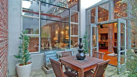 Outdoor Patio Furniture Industrial Style Loft In San Francisco Showcasing An