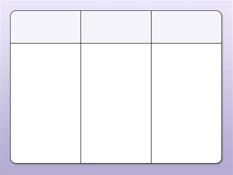 a table chart blank table chart with 3 columns printables and menu