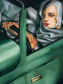 tamara de lempicka self portrait in the green bugatti tamara de lempicka