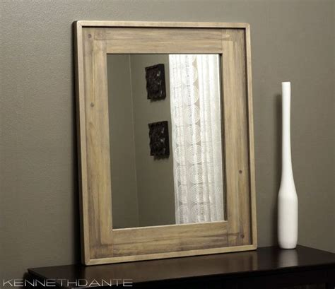 High Quality Bathroom Mirrors Mirror Design Ideas Weathered Light Wooden Bathroom Mirror Steaky Rectangular Handmade