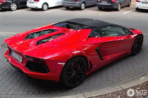 convertible lamborghini red lamborghini aventador lp700 4 roadster 13 september 2014