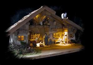 weihnachtskrippen beleuchtung krippenstall mayen fertig dekoriert mit led beleuchtung