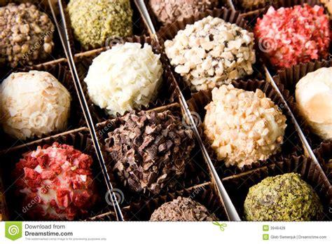 Best Handmade Chocolates - box of different luxury handmade chocolates royalty free