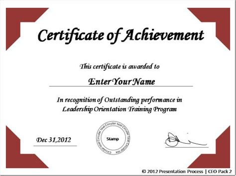 Powerpoint Certificate Of Achievement Template Powerpoint Podiums