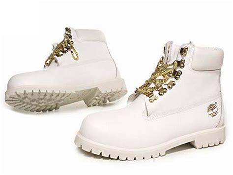 white and gold timberland boots timberland s 6 inch chain basic boot white gold