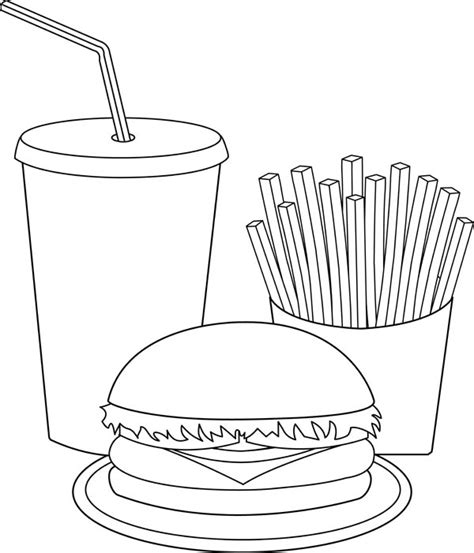 coloring pages canned food junk food can cause many illness coloring page junk food