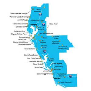 map of florida southwest coast map of florida state parks southwest district cing