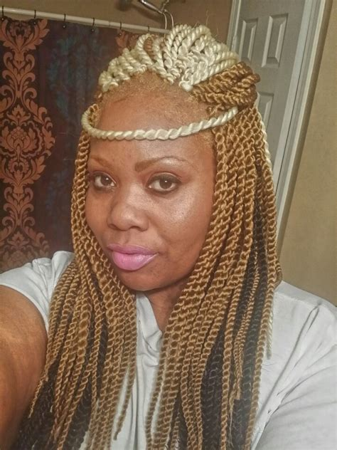 best hair for blonde senegalese twists platinum honey blonde and black crochet senegalese twist