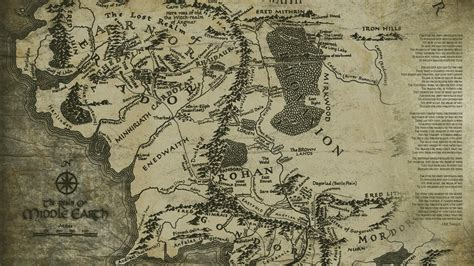 tolkien map middle earth middle earth maps