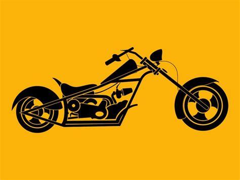 imagenes motos originales silueta de una moto chopper descargar vectores gratis