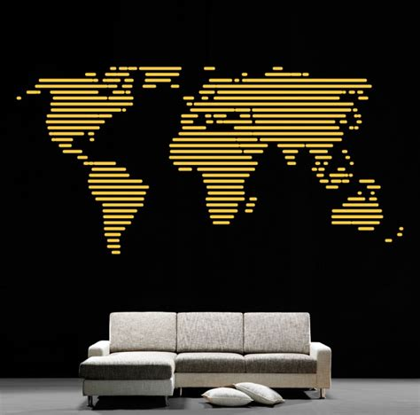 cool wall sticker cool wall stickers map of the world by artollo