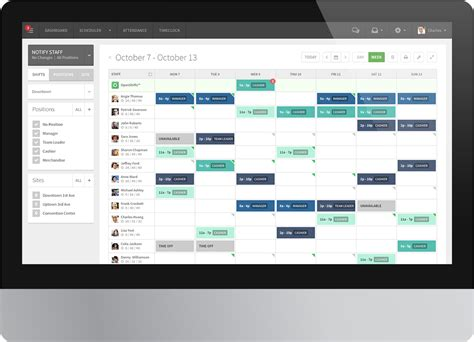7 online scheduling systems to help you manage your time employee scheduling software screenshot of the shift
