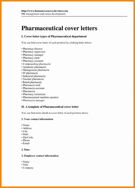 sample cover letter for a pharmacy technician livecareer