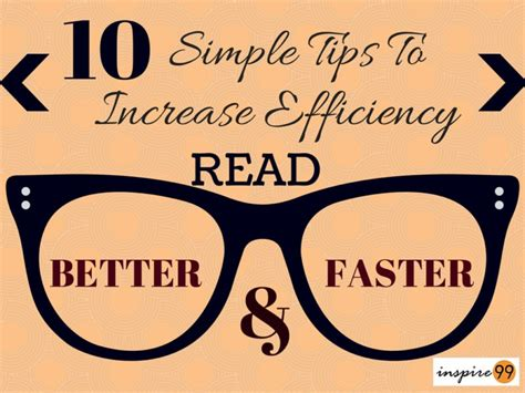 read fast read better and faster 10 simple tips to increase