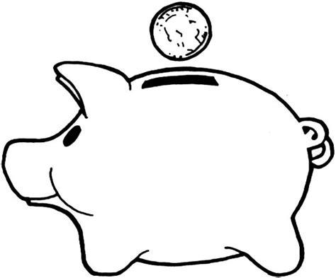 Piggy Bank Coloring Page save money piggy bank coloring page color