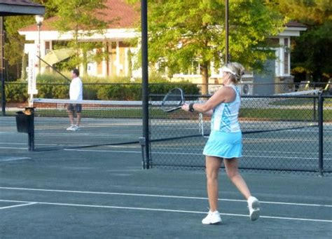 backyard tennis game boomers stay active with outdoor games boomer places