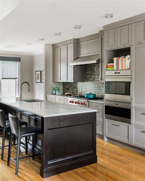 transitional kitchen cabinets 50 gorgeous gray kitchens that usher in trendy refinement