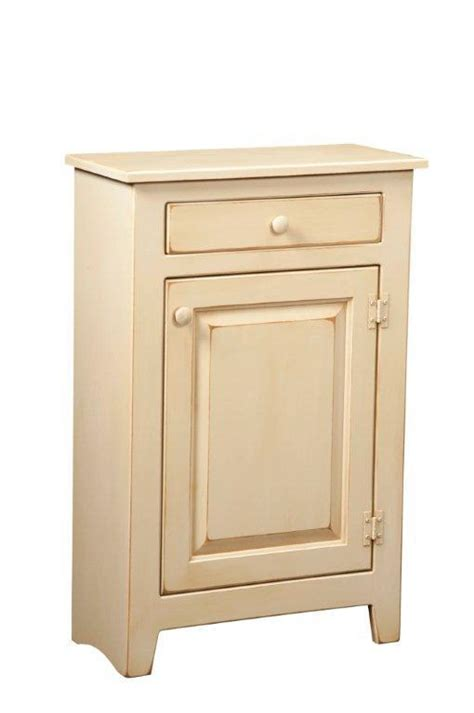 Unfinished Kitchen Furniture by Amish Small Pine Console Cabinet