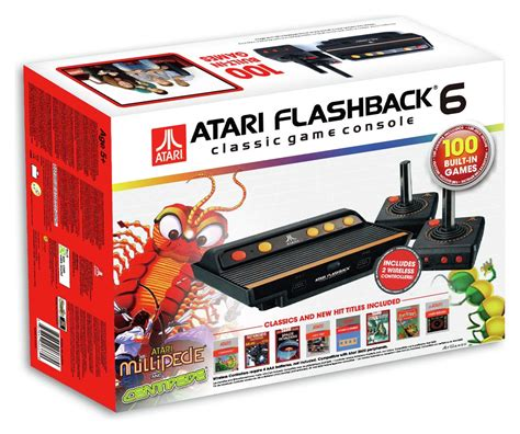atari classic console atari flashback 6 classic console 100 built in