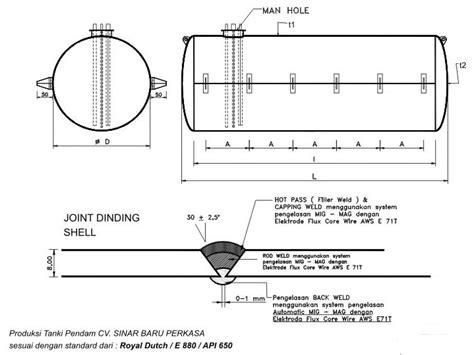 Tangki Solar Pendam sinar baru perkasa tank fabricator steel