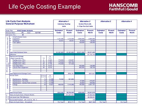 Cost Benefit Analysis Template Excel Template Business Project Cost Summary Template Excel