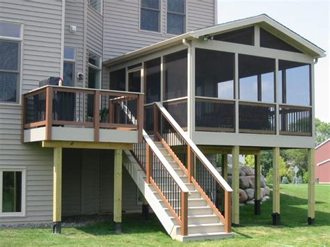 second story deck plans pictures second story screened porch in durham i love the contrast
