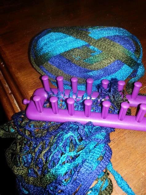 loom knitting with sashay yarn 25 best ideas about sashay scarf on sashay