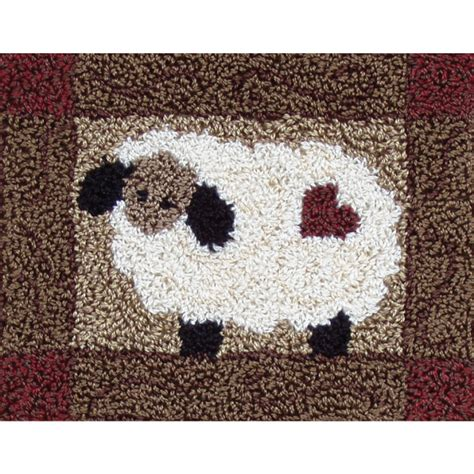 punch hook rug kits wooly sheep punch needle kit punch needle rug kits at weekend kits