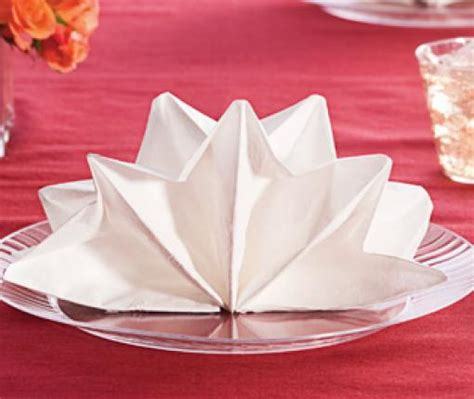 Paper Napkin Folding Ideas - napkin fold chinet