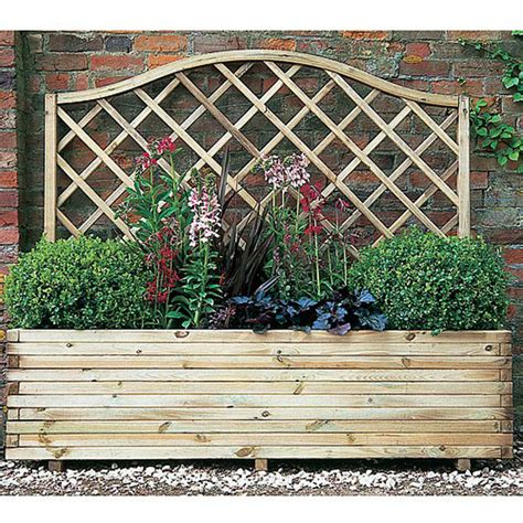 Buy Trellis Buy Forest Garden Venice Wooden Planter With Trellis From