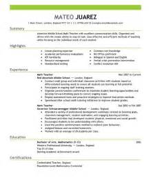 Exle Of Teaching Resume by Best Resume Exle Livecareer