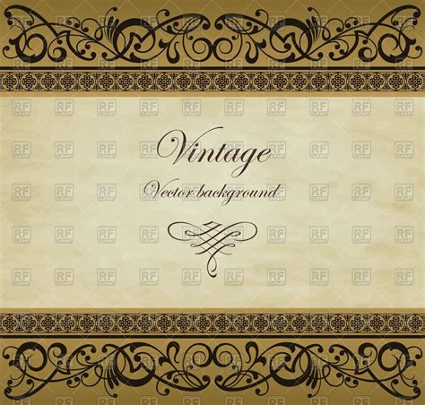 frame pattern images vintage background frame with golden ornament royalty