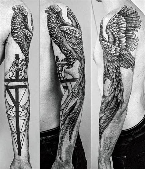 50 geometric arm tattoo designs for men bicep ink ideas