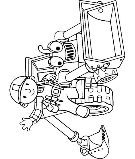 coloring page builder bob the builder and scoop coloring page
