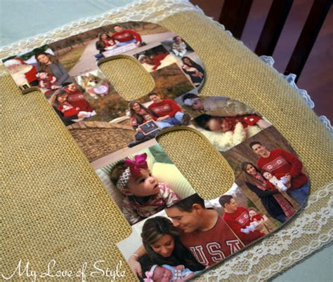 Handmade Photo Collage Ideas - diy wooden letter photo collage tip junkie