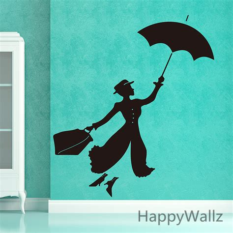 hot sale diy vinyl wall stickers decal art mural for kids mary poppins wall sticker the ᐂ movie movie mary poppins