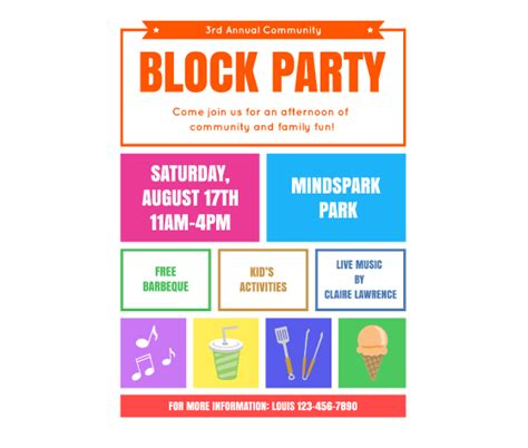 Download This Block Party Flyer Template And Other Free Printables From Myscrapnook Com Free Flier Templates